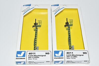 Viessmann H0 2 Stück 4011 Licht- Blocksignal Lichtsignale Signal Set  NEU in OVP, gebraucht gebraucht kaufen  Deutschland