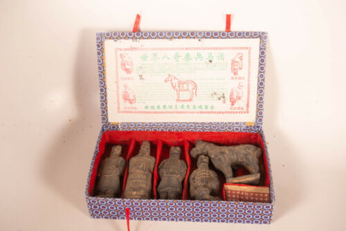 5 Piece Terracotta Army Home Decor Set with Box