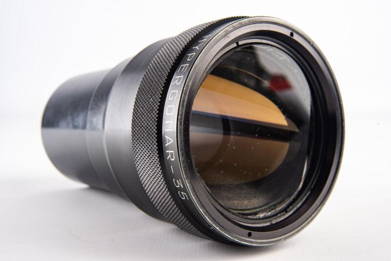 Hypergonar 35 MINOR S.T.O.P. 2x Anamorphic Cinemascope Lens RARE V16