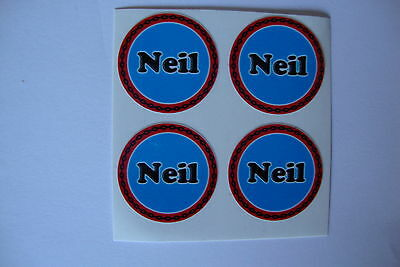 """12  NEIL CROWN GREEN STICKERS  1""""   LAWN BOWLS FLATGREEN  AND INDOOR BOWLS"""
