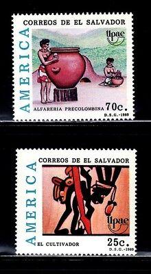 SELLOS EL SALVADOR 1989 TEMA AMERICA UPAEP 1059/60 2v.
