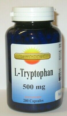 L-Tryptophan 500mg 200 Capsules   Mood Relaxation And Restful Sleep