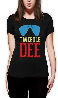 Tweedle Dee Costume Women T-Shirt Matching Couples Halloween Party Cute Love (Tweedle Dee Halloween Costume)