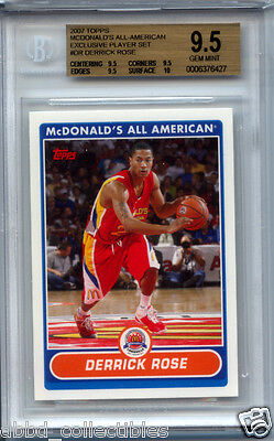DERRICK ROSE 2007 Topps McDonalds rookie BGS 9.5 x3 10 surface GEM MINT !