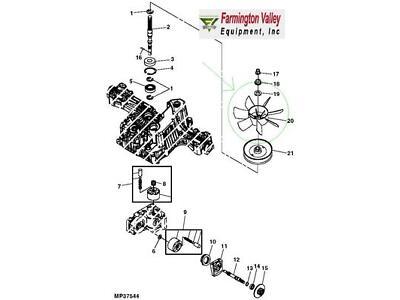 John Deere 190C G100 G110 Scotts Sabre Hydrostatic Transmission Cooling Fan