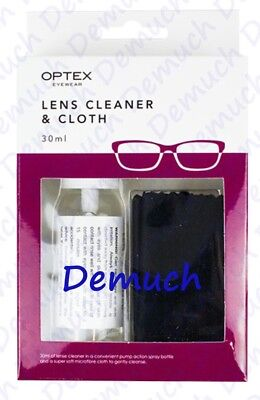 New Optical GLASSES LENS SPRAY CLEANER Microfibre Cloth Wipes Spectacle Camera ✔