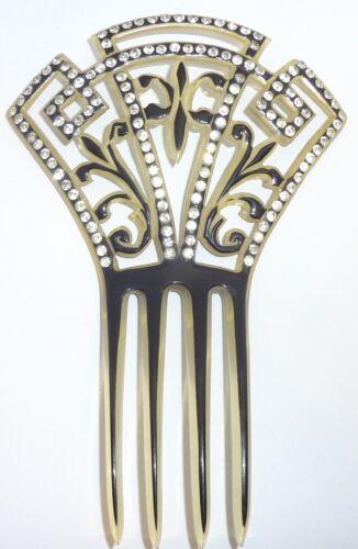 Vintage Art Deco Rhinestone Mantilla Hair Comb