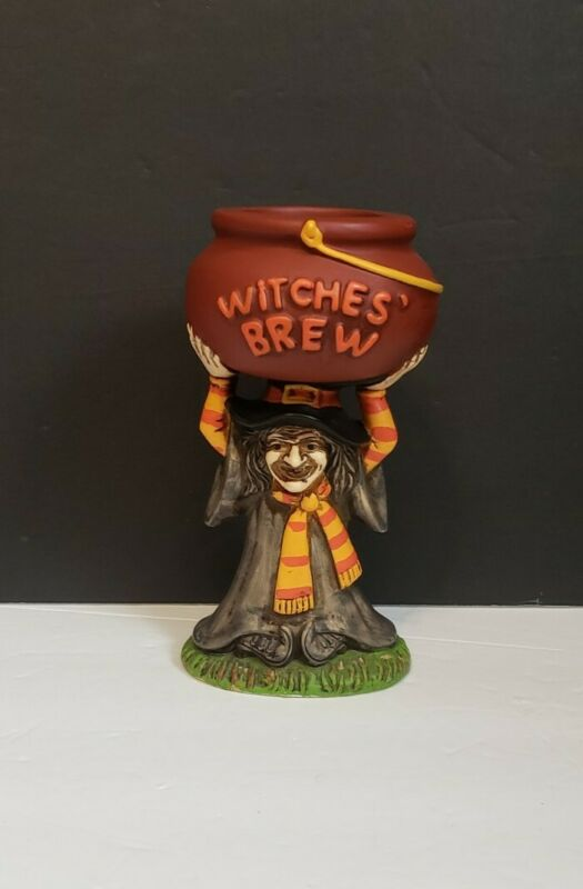 Vintage Lefton Witch figure witches brew halloween cauldron. Rare find.