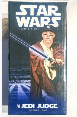 Aaron Judge Star Wars NY Yankees Jedi SGA Bobblehead New INSTOCK 5/4/18 May 2018