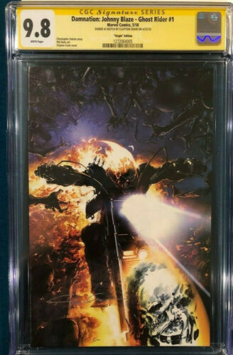 Clayton Crain ORIGINAL CGC SS 9.8 Sketch Art Ghost Rider Signed X-Men CBCS