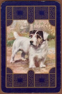 Playing Cards Single Card Old Vintage Named SEALYHAM Terrier Dog Artist Painting