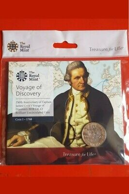 2018 Captain James Cook £2 Coin sealed In Royal Mint Packaging