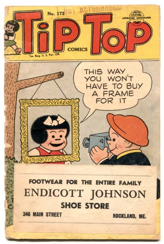 Tip Top Comics #173 1952- 1st PEANUTS- Nancy G