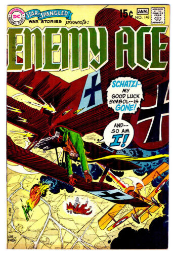 STAR SPANGLED WAR STORIES #148 in VF condition 1968 DC WAR comic ENEMY ACE