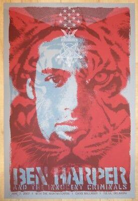 2007 Ben Harper - Tulsa Silkscreen Concert Poster A/P by Todd Slater