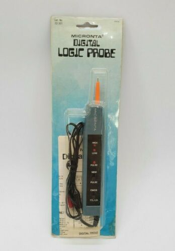 Micronta 22-301 Digital Logic Probe with LED and Audio Tone Indication NEW