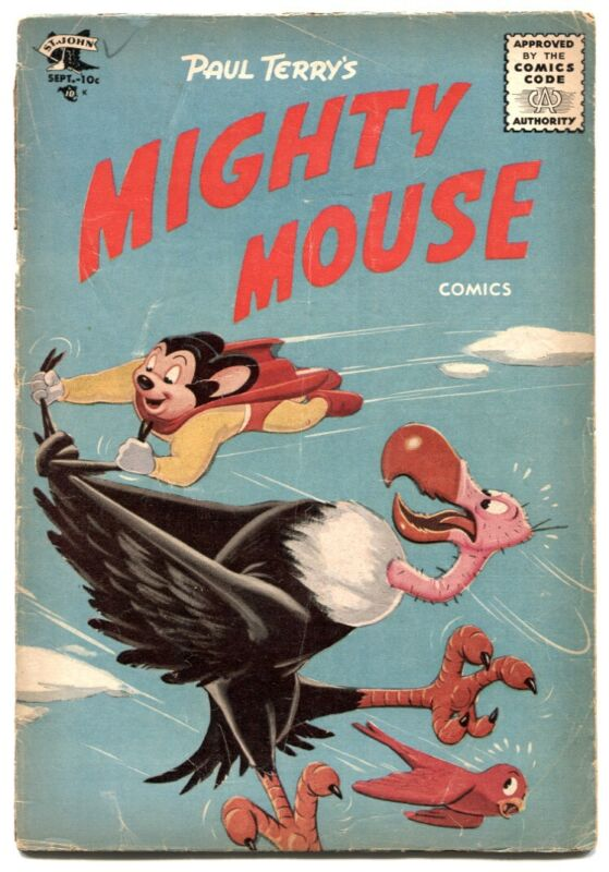 Mighty Mouse #65 1955- wild vulture cover G/VG