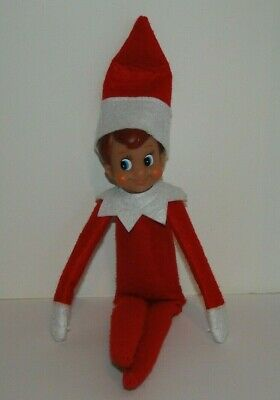 The ELF ON THE SHELF a Christmas Tradition Boy Doll Brown Hair Blue Eyes Pre-Own