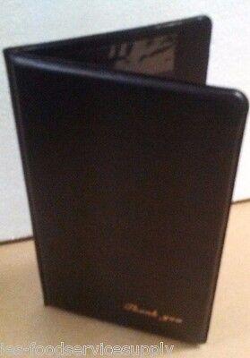 Set Of 3 Black Check Presentation Holder Cover - 5-34x9-12 Gold Thank You