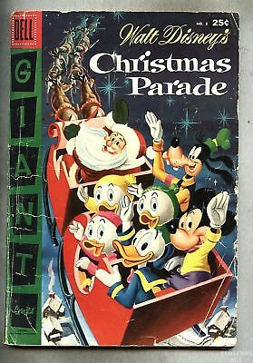 Dell Giant Christmas Parade #8-1956 vg/gd Disney /Barks