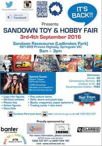 Sandown Toy and Hobby Fair Springvale Greater Dandenong Preview