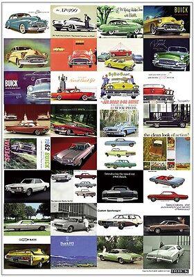 BUICK - RETRO ART PRINT - Skylark Riviera Invicta Air Born B-58 - Advert poster