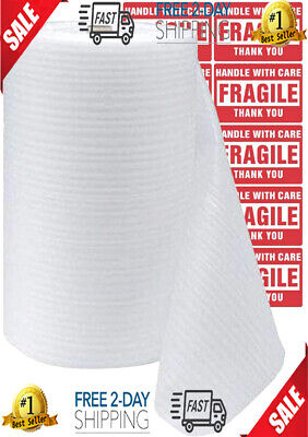 Teikis 1-pack 12 X 600 In Foam Sheets Wrap Roll For Moving Shipping Packing
