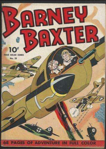 1943 Dell Four Color 4C #20 Barney Baxter VG+
