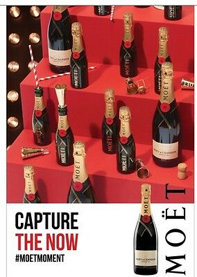 """Moet Champagne """"Capture The Now"""" Poster 24 By 36"""