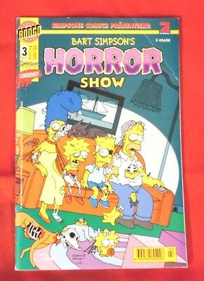 Bart Simpsons Horror Show  3 , Dino Comics , 1999 , Z 2 , 1. Auflage