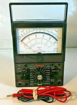 Simpson 260 Series 6xlpm Vom Volt-ohm Multimeter Electrical Tester W Test Leads