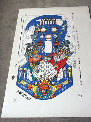 WILLIAMS JOKERZ Pinball Machine Playfield Overlay - MADE FROM WILLIAMS FILMS