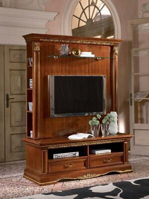 Armario de Televisión Salón Modular Pared TV Estantería Madera Maciza Casa Campo