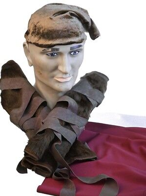 World Book Day-Film FROZEN KRISTOFF VIKING HAT, LEG WRAPS & WAIST SASH SET
