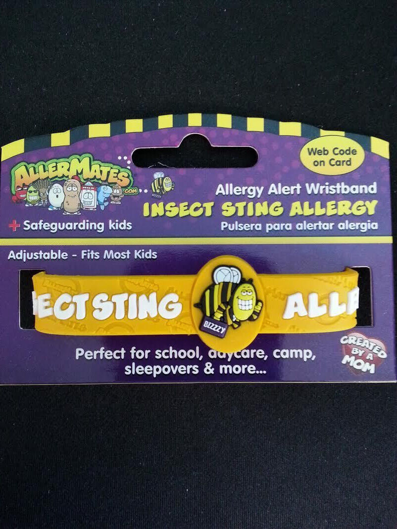 Allermates ALLERGY ALERT Wristband Insect Sting ALLERGY Adjustable Band