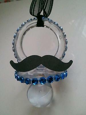 MUSTACHE PACIFIER NECKLACES FOR BABY SHOWERS PARTY FAVORS