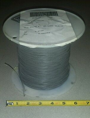25 Ft Mil-spec M8104412-20-8 20awg Gray Electrical Wire 19 Strand 1c 600v
