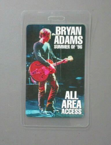 Bryan Adams backstage pass laminated Summer of