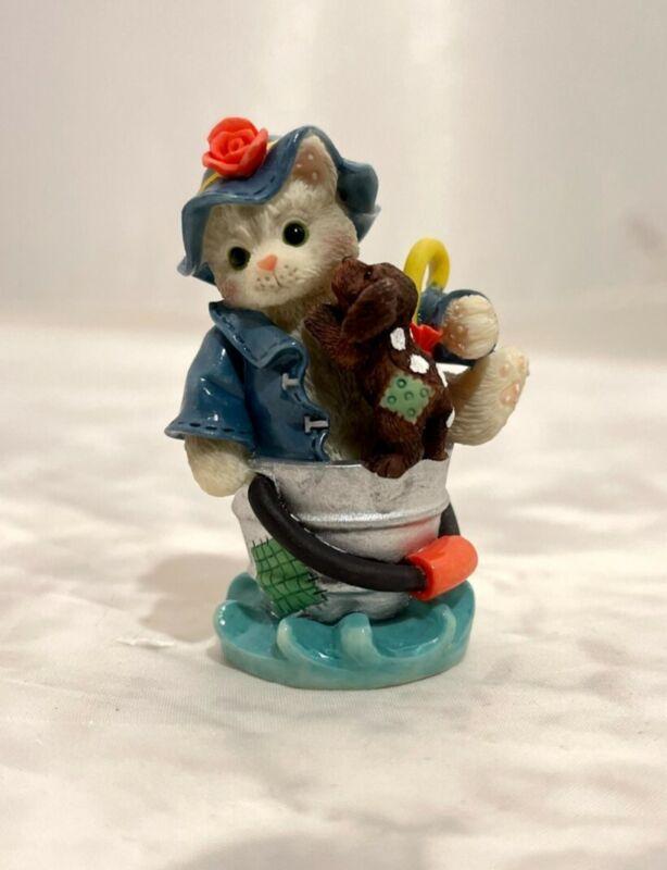 Calico Kittens Friendship Figurine, Friendships Are Like Sunshine Rain, #296953A