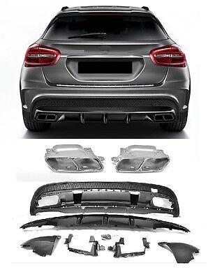 Heckeinsatz Diffusor Stoßstange Für Mercedes-Benz GLA X156 GLA45 AMG Look