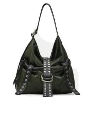 Used, ZARA GREEN BOTTLE FABRIC BUCKET BAG for sale  Shipping to Ireland