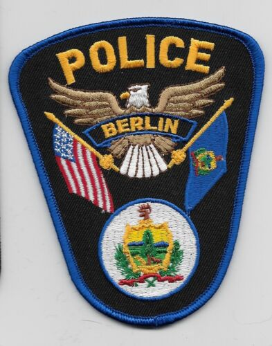 Berlin Police State Vermont VT patch Colorful