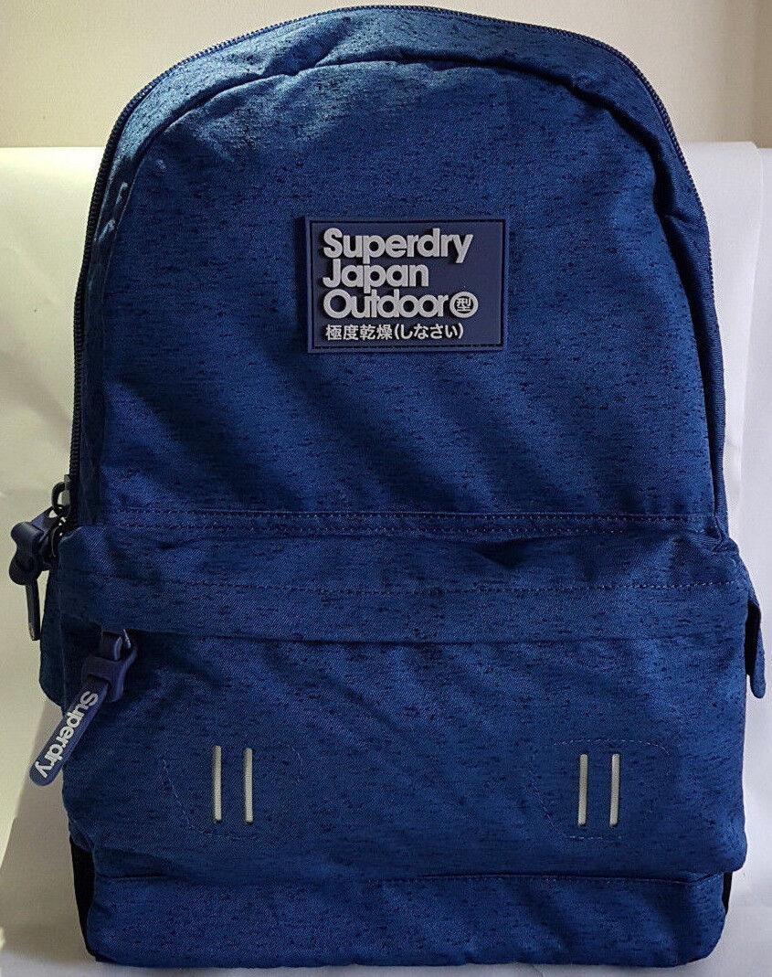 Superdry 2018 Real Montana Blue Backpack Laptop Gym School Work Rucksack Sale!