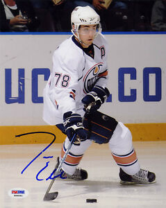 Jordan-Eberle-SIGNED-8x10-Photo-RookieGraph-Edmonton-Oilers-PSA-DNA-AUTOGRAPHED