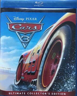 Like New! Disney Pixar CARS 3 Blu Ray+DVD+Digital & Mini Movie