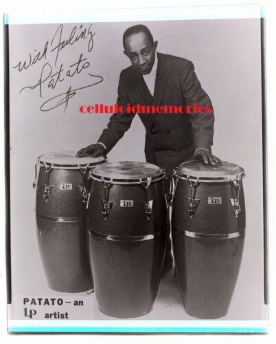PATATO VALDES - Jazz / Big Band Black & White Negative - Great Image - Congas