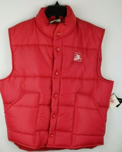 Vintage Diet Coke Red Puffer Vest ~ NEW w/ TAGS ~ Coca-Cola Mens Lg 44-46 ~ NOS