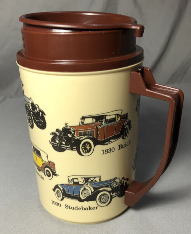 "Vintage Thermo Whirley Travel Mug Cup 22 oz NWT ""VIRTUALLY Unbreakable"""
