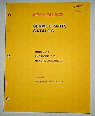New Holland 514 520 Manure Spreader Parts Catalog Manual Book 486 Nh Original