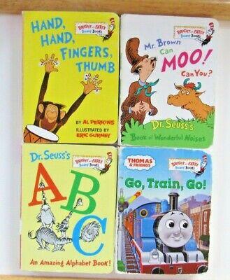 4 Dr Seuss Bright & Early Mini Board Books ABC, Thomas the Train, n More